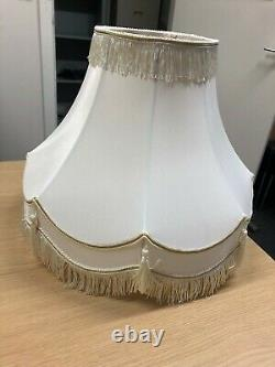 10,12,14,16,18,22 Traditional Fully Lined Cream/gold Table Lamp Shade New