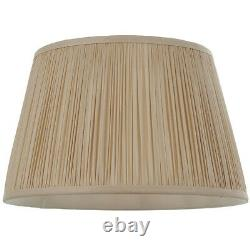 12 Elegant Round Tapered Drum Lamp Shade Oyster Gathered Pleated Silk Cover
