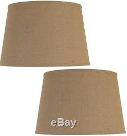(2 Count) Better Homes and Gardens Large Lamp Shade, Burlap, Fabric, Round New