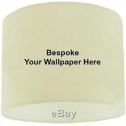 35cm / 14 Bespoke / Custom Made Lampshade with your own Wallpaper or Fabric