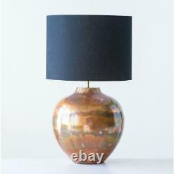 3R Studios 12 in. Copper Table Lamp with Black Shade DF0542