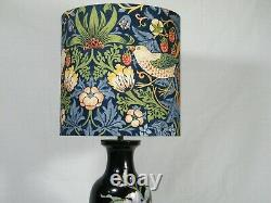 A Table/Hall Light, with Raised Flower Bouquet front & rear & Designer Shade,