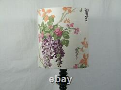A Table Light, with a Mauve Glass column fitted with a Designer London Shade