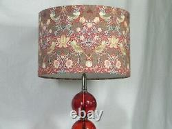A beautiful Art Deco 4 Glass Baubles on a Chrome Base with Designer Shade