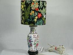 A beautiful Chinese Style Lounge/Side Table Lamp with designer Shade, Superb