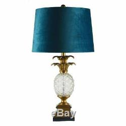 Ananas Vintage Glass Pineapple Table Lamp, Blue and Gold. Impressive