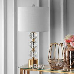 Ashley Clear/ Brass Crystal LED Table Lamp By JONATHAN Y