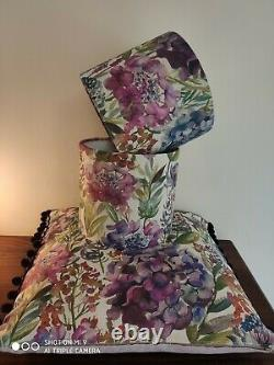 Bluebell Gray Abstract Linen Fabric Lampshade Kit, Christmas Crafting Gift