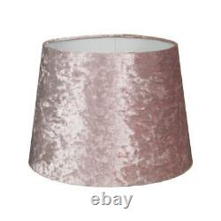 Blush Luxe Crushed Velvet Effect Dual Purpose Lampshade Lightshade Shade 9