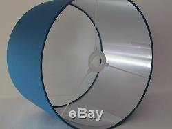 Brushed Silver Lined Teal Lampshade Ceiling Light shade Choice of Colours