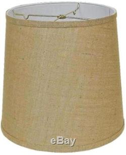 Burlap Lamp Shades Drum, Coolie, Empire 12-24W All Shapes & Sizes USA Made