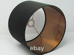 Charcoal Grey Velvet with a Brushed Copper Metallic Lining Lampshade Lightshade