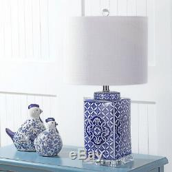 Choi 23' Chinoiserie LED Table Lamp, Blue/White By JONATHAN Y