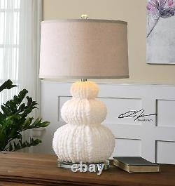 Coastal Beach Decor Fontanne 28 Table Lamp Uttermost 26671 Shell Coral Inspired