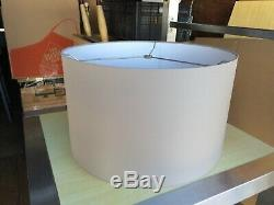 Contemporary Style Fabric Drum Lamp shade 16 wide Light Gray color