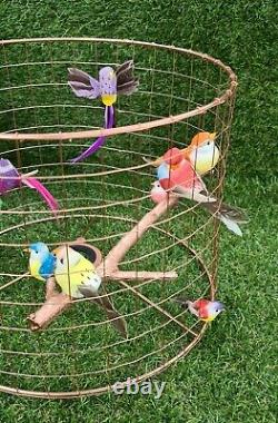 Copper Birdcage Lampshade Cage Shade Rainbow Bird Light Lamp Home Decoration