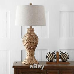 Elicia 31' Seagrass Weave LED Table Lamp, Natural By JONATHAN Y