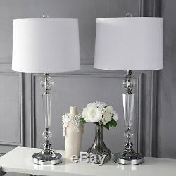 Emma 29.5' Crystal LED Table Lamp, Clear (Set Of 2) By JONATHAN Y