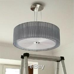 Fabric 4 Lights Chandelier Drum Shade Pendant Lamp Ceiling Fixture Home Lighting