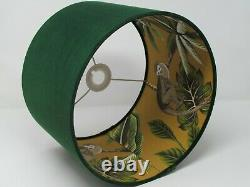 Forest Green Monkey Palm Tree Leaves Drum Lampshade Light Shade