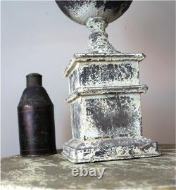 French Country Shabby Chic Table Lamp with Aged Gold Leaf Shade The Kings Bay