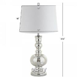 Genie 28.5' Glass LED Table Lamp, Mercury Silver (Set Of 2) By JONATHAN Y