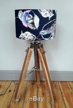 HOUSE OF HACKNEY black Empire badger sloth frog fabric 35cm 40cm drum lampshade