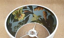 HOUSE of HACKNEY Limerence Sky & white linen tropical leaf 25cm drum lampshade