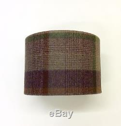 Hand Made Tartan Drum Lampshade in Abraham Moon Dales'Malham Wine' Wool Fabric