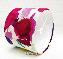 Handmade Bluebellgray ABSTRACT multi-colour splat drum lampshade 15cm 40cm