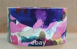 Handmade Bluebellgray Wee Archie abstract velvet contemporary drum lampshade 40