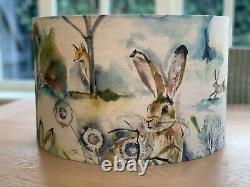 Handmade Lampshade Voyage Grassmere Fabric Fox Hare Countryside Watercolour Tree