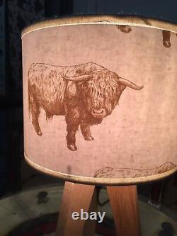 Highland Bull Light Shade Ceiling or Table Lamp Hunting game Country Home Decor