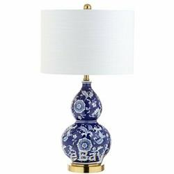 JONATHAN Y JYL3003A Lee 27 Ceramic Chinoiserie LED Table Lamp Blue/White Tra