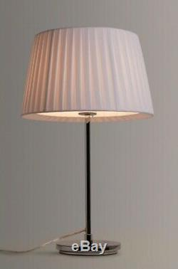 John Lewis Caris Arched Floor Lamp, Pleated White Fabric Shade, SHADE ONLY