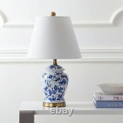 LED Table Lamp Hand Painted Glazed 22' Chinoiserie Traditional Decor