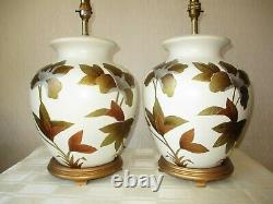 Large Pair Of Gilt Chinese Table Lamps With New And Sealed Shades