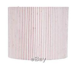 Large Round Drum Shade in Pink and White Stripe ID 3288479