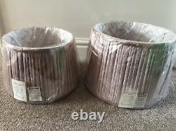 Laura Ashley Lampshades Velvet Blush 10 And 12 Brand New