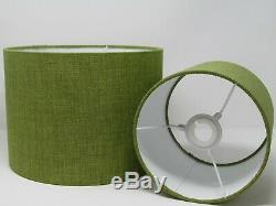 Lime Green Textured Woven Drum Lampshade Ceiling Shade Statement Contemporary