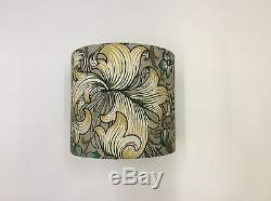 Lovely Handmade Drum Lampshade in Sandersons William Morris'Lily' Fabric