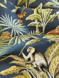 Luxurious Monkey Tropical Tapestry Fabric Lampshade 6 Brushed Linings Bronze