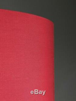 Luxurious Red Vintage Style Fringed Braiding Lampshade 6 Metallic Linings Gold