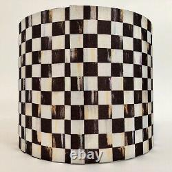 MacKenzie Childs Small Drum Courtly Check Lamp Shade