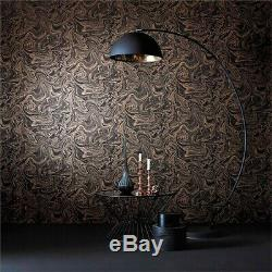 Marbled Charcoal Rose Gold Metallic Lampshade Boutique Choose 7 linings Copper