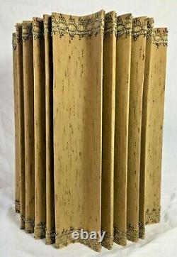 Mid-Century Modern Drum Lamp Shade Gold with Gold Piping Very Cool