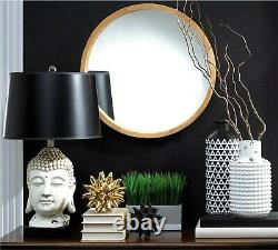 Modern Ancient Style 26 BUDDHA FACESCULPTURE TABLE LAMP With LAMP SHADE NIB