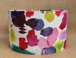 NEW Bluebellgray ABSTRACT multi-colour drum pendant lampshade all sizes USA harp