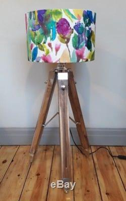 NEW Bluebellgray PETITE MODE pink floral drum pendant or lampshade large 35 40cm