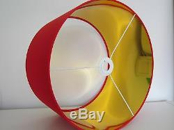 NEW Handmade Metallic Mirror Gold Lined Bright Red Drum Lampshade Lightshade